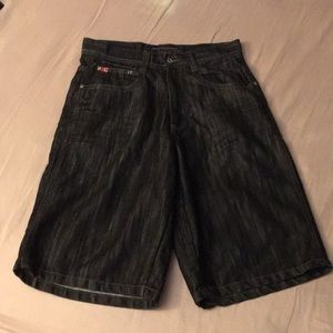 Southpole black denim shorts 32 waist